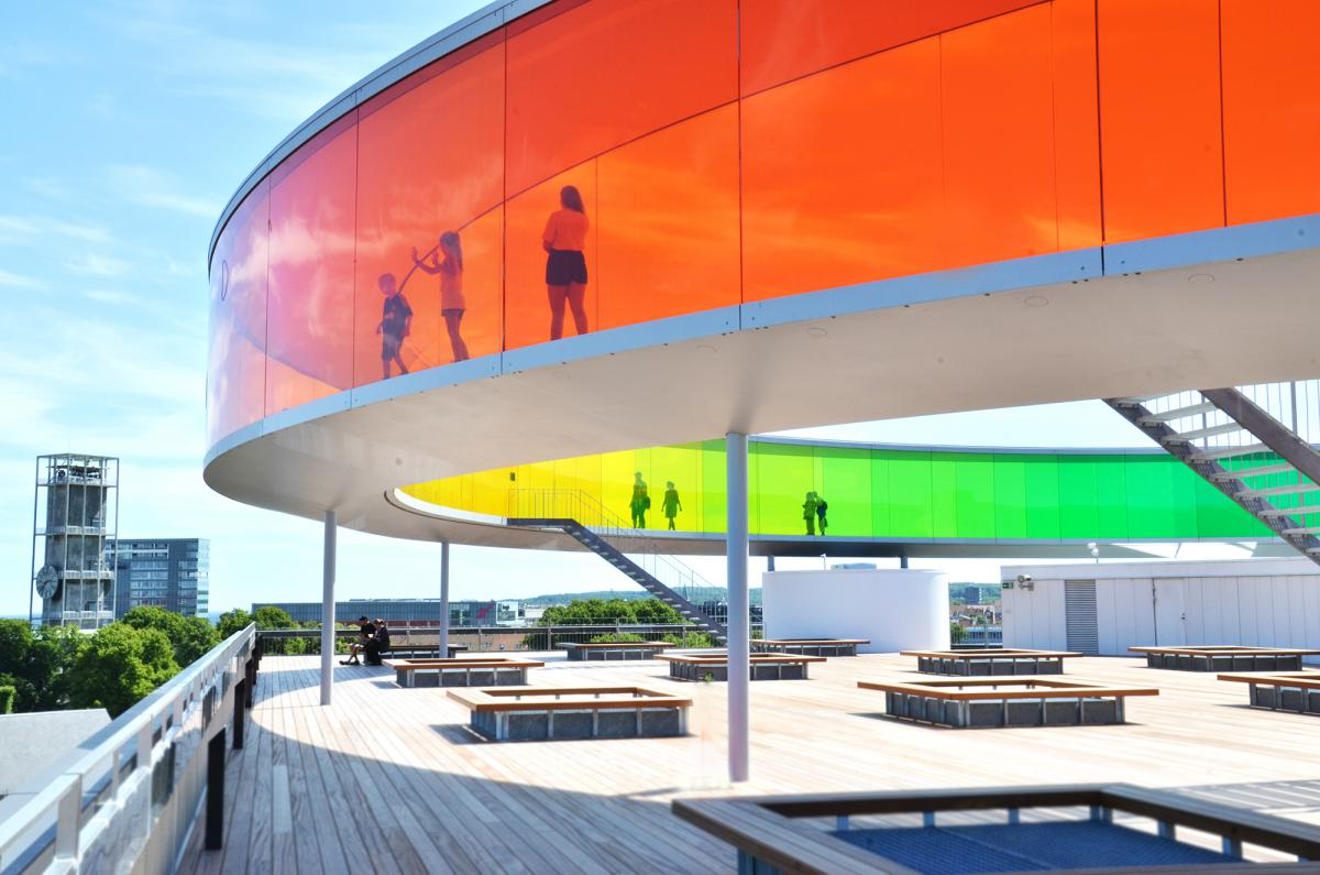 picture of the Rainbow Panorama at ARoS Art Museum