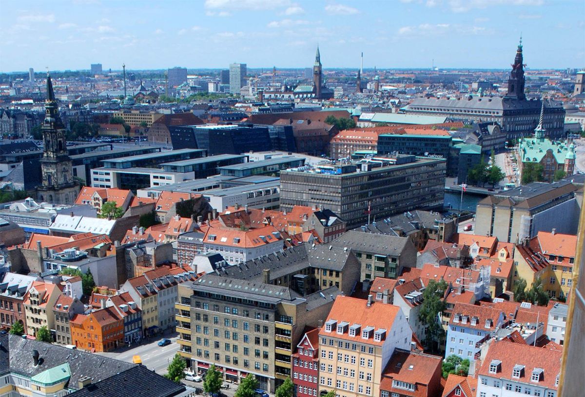 a picture of Copenhagen skyline