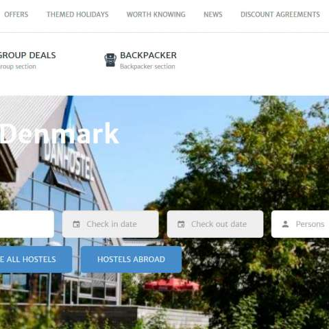Danhostel's website and booking portal got a facelift
